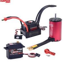 KK Waterproof Combo 4068 2050KV Brushless Motor w/120A Brushless ESC + S1500M 15KG Servo for for 1/8 RC Drift Racing Car