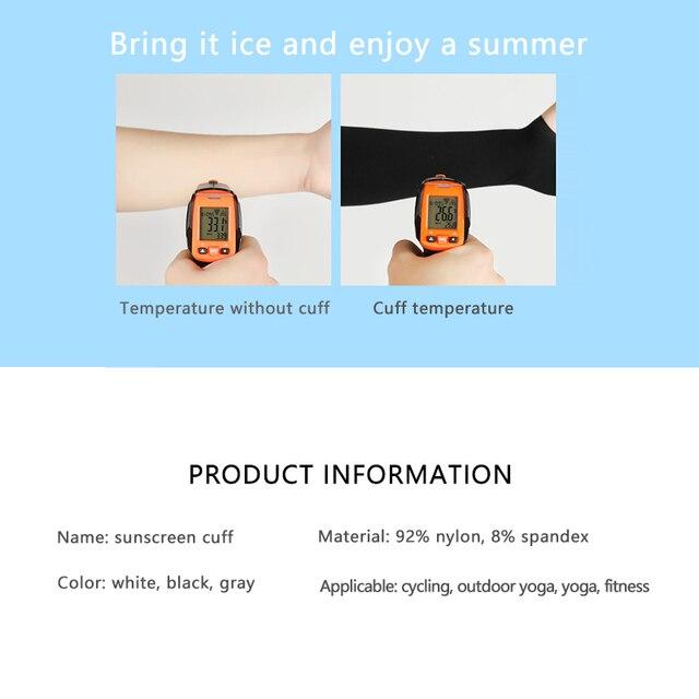 2 pçs braço mangas aquecedores esportes manga sol proteção uv capa de mão refrigeração aquecedor correndo pesca ciclismo esqui equitação ao ar livre 4