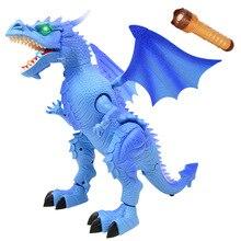 Электрический фонарик динозавр дистанционного управления пройдете имитация модели динозваров Дракон Динозавр Детская игрушка