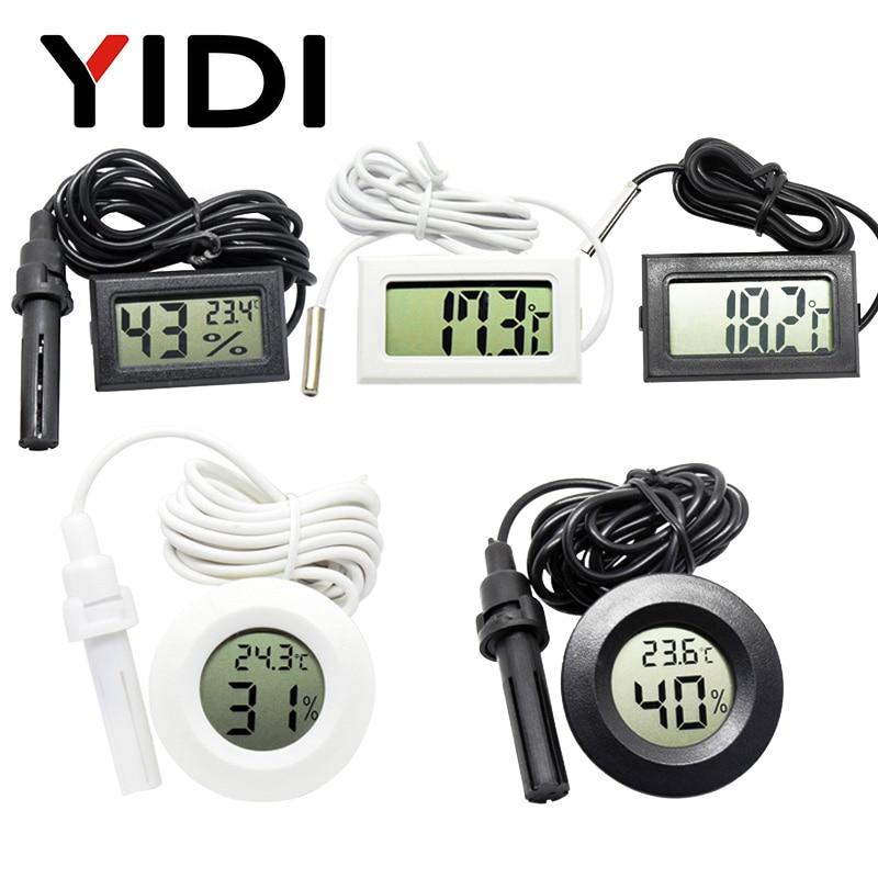 Mini LCD Digital Thermometer Hygrometer Gauge Tester Probe Incubator Aquarium Soil Temperature Humidity Meter Sensor Detector