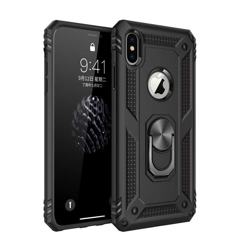 Shockproof Armor Ring,On,Case For iPhone 11 Pro XS Max X XR 7 8 6 6S 5 S SE 5S Stand Holder Cover For iPhone XS Case iPhone5 5SE