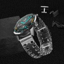 רצועת עבור Amazfit ביפ GTS GTR 42mm סיליקון שקוף צמיד לxiaomi Amazfit ביפ S/ביפ U/GTR 47mm חכם שעון להקת רצועה