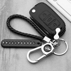 Leather car key case key cover For VW Golf 5 7 Bora MK6 7 Jetta Polo Passat B5 B6 B8 Skoda Octavia A5 Fabia SEAT Ibiza Leon new
