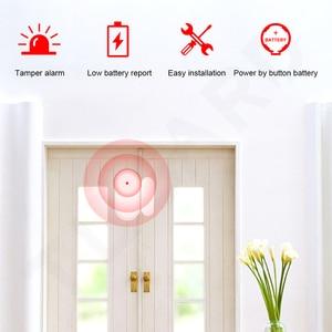 Neue 433mhz Wirless Tür & Fenster Sensor Mini Alarm Sensor für Home Security Alarm System APP Fernbedienung Bewaffnung & entwaffnung