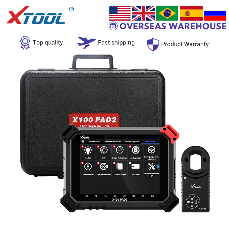 XTOOL X100 PAD2 X100 PAD2 PRO Key programmer Auto diagnostic scanner tool OBD2 engine diagnosis for VW 4th & 5th IMMO ECU DPF-in Auto Key Programmers from Automobiles & Motorcycles    1