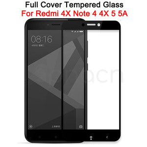 9D Tempered Glass on For Xiaomi Redmi Note 4 4X 5 5A Pro Screen Protector Safety Glass on the Redmi 4X 5A 5 Plus S2 Film Case