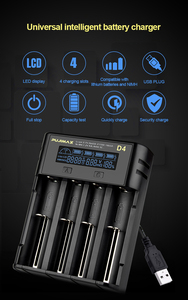 Image 2 - VOXLINK battery charger18650 LCD screen show the fast charging 26650 18350 21700 26700 22650 Li ion Rechargeable Battery charger