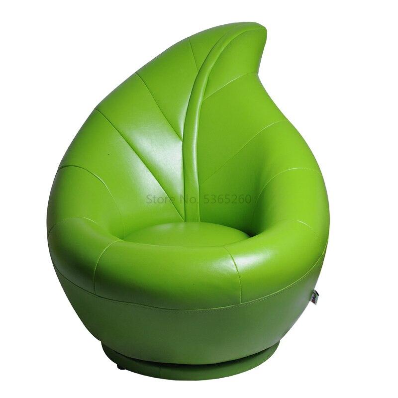 Green Leaf Children Sofa Single Person Lie Chair Rotate Function Sofa Zitzak Baby Furniture Kids Bedroom Game Chair