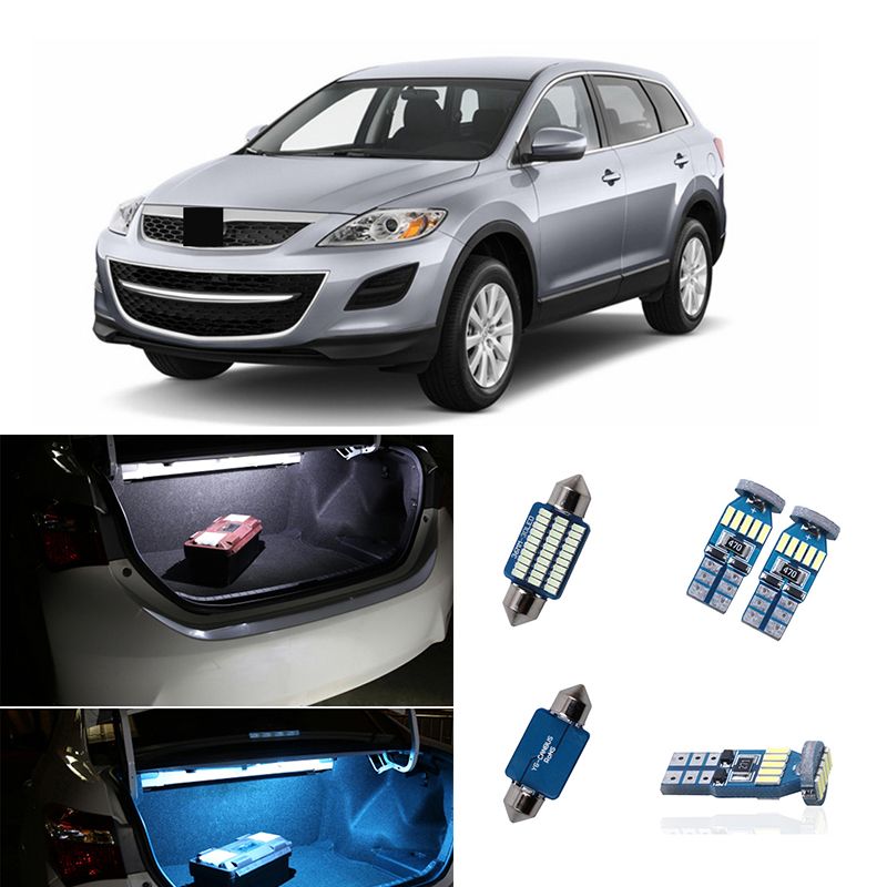 11pcs LED Light Car Bulbs Interior Kit Map Dome License Plate Step Trunk Lamp For <font><b>Mazda</b></font> CX-9 <font><b>CX9</b></font> 2007 2008 2009 2010 2011 <font><b>2012</b></font> image