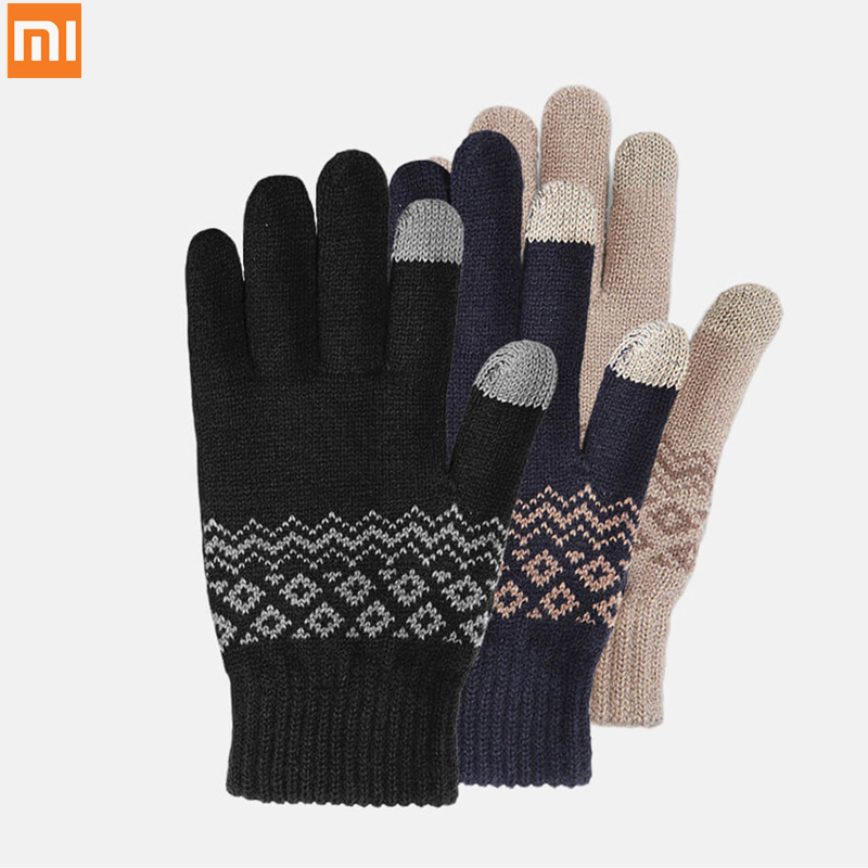 New Xiaomi Mijia Youpin FO touch screen warm velvet gloves Plus velvet to keep warm finger touch screen for winter|Smart Remote Control| |  - title=