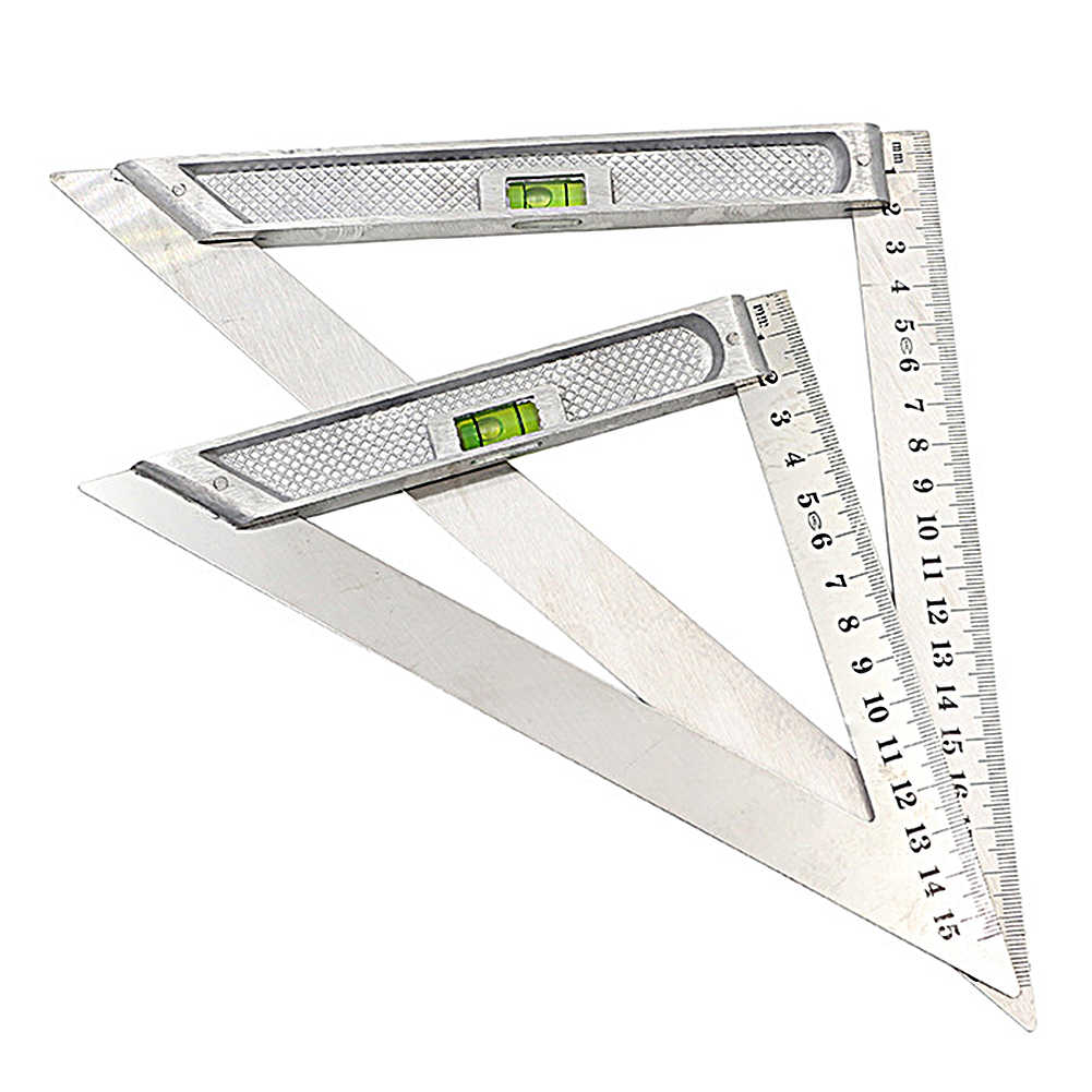 90 Degree Woodworking Squares Home Portable Angle Stainless Steel Triangle Ruler