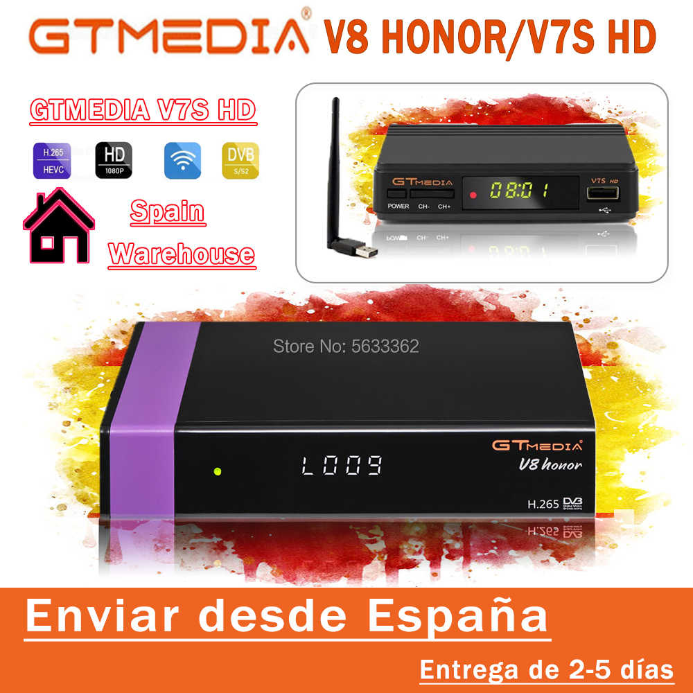 Digitale Gtmedia V8 Honor DVB-S2 Hetzelfde Als Gtmedia V8 Nova H.265 Full Hd Usb Wifi Gtmedia V7S Hd Optionele