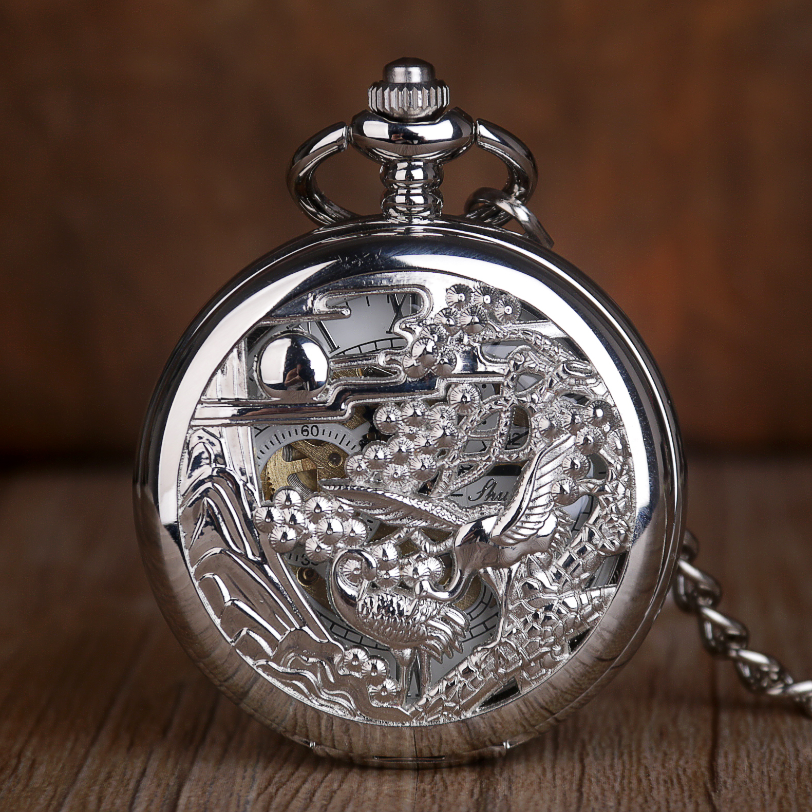 New Steampunk Mechanical Pocket Watches Hand Winding Men Retro Hollow Fashion Casual Skeleton Pocket Watches For Mens Womens