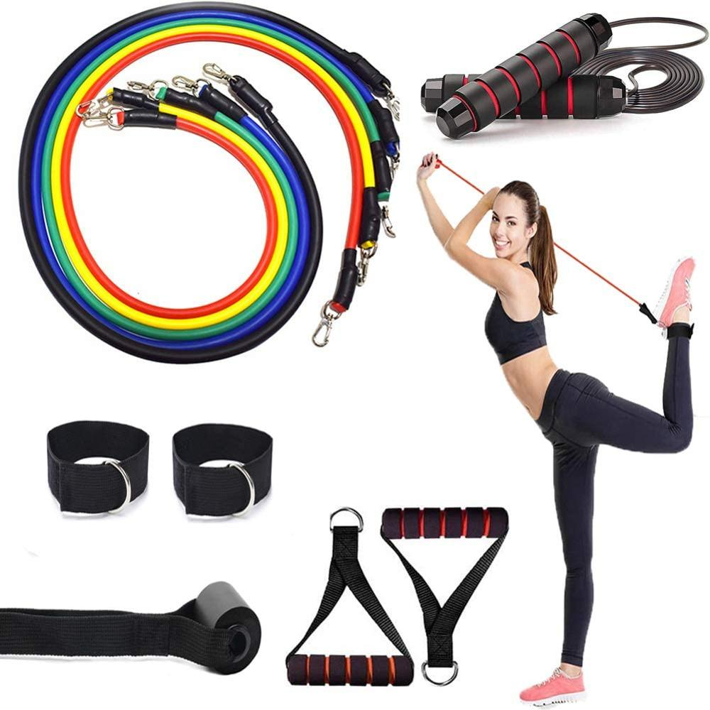 NEW 12Pcs Jump Rope Set With Foam Antiskid Jump Rope Indoor Pilates Yoga Physical Therapy Workout Body Training Fitness
