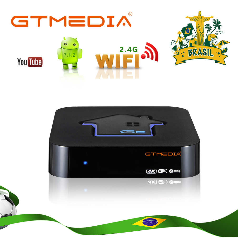 Nave da usa-Brasile Spagna GTmedia G2 Android 7.1 TV Box 2GB 16GB Costruito in WiFi 4K HD set Top Box di Supporto M3U GTplayer TV Box