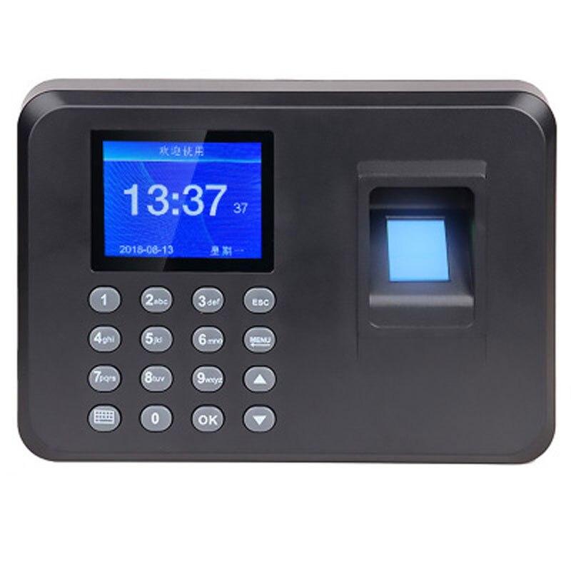 Escritório inteligente senha comparecimento máquina biométrico impressão digital empregado verificação-in gravador dc 5 v relógio de comparecimento do tempo