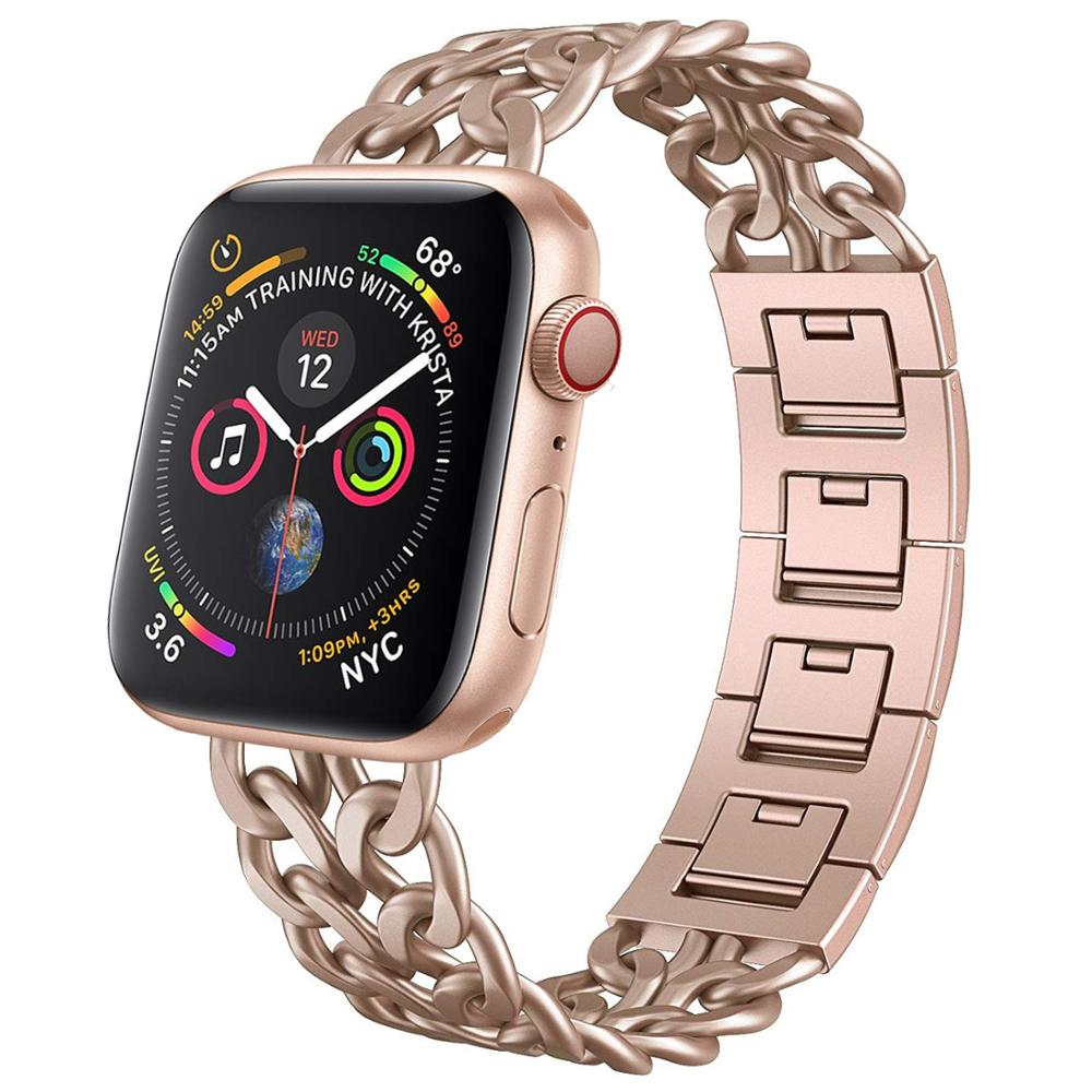 Stainless Steel Strap For Apple Watch Band 40mm 44mm IWatch Band 38mm 42mm Meatal Bracelet Apple Watch 5 4 3 2 1 42 40 38 44 Mm