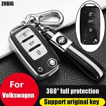 цена на ZOBIG for VW Key Fob Cover  for VW Beetle Passat Tiguan Touran Jetta MK1-MK6 Golf GTI/Rabbit/R/MK6/MK5 Premium