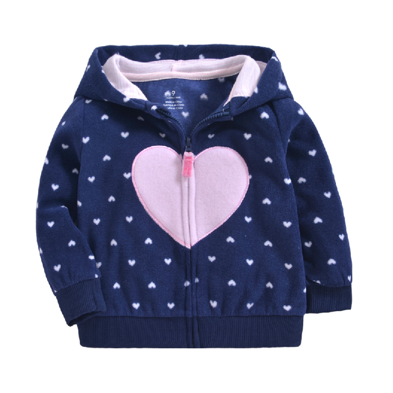 Newborn Baby Girls Clothes Autumn Winter Warm Hooded Jacket Coat For 0-3T Baby Boy Floral Outerwear Toddler Girls Clothing