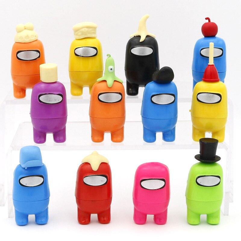 12 pçs/set entre os eua figura de ação modelo espaço lobisomem jogo bonecas casa decorações de mesa amus pvc modelo criança presente brinquedos para crianças