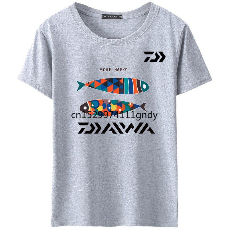 Daiwa Soft Quick Dry Fishing Jersey Short Sleeve Cotton Fishermen Angling Jerseys Fishing Clothing  Breathable Fishing T-Shirt