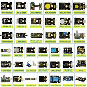 Image 2 - Новинка 2020! Keyestudio новый сенсорный стартовый комплект V2.0 37 в 1 коробка для Arduino UNO стартовый комплект