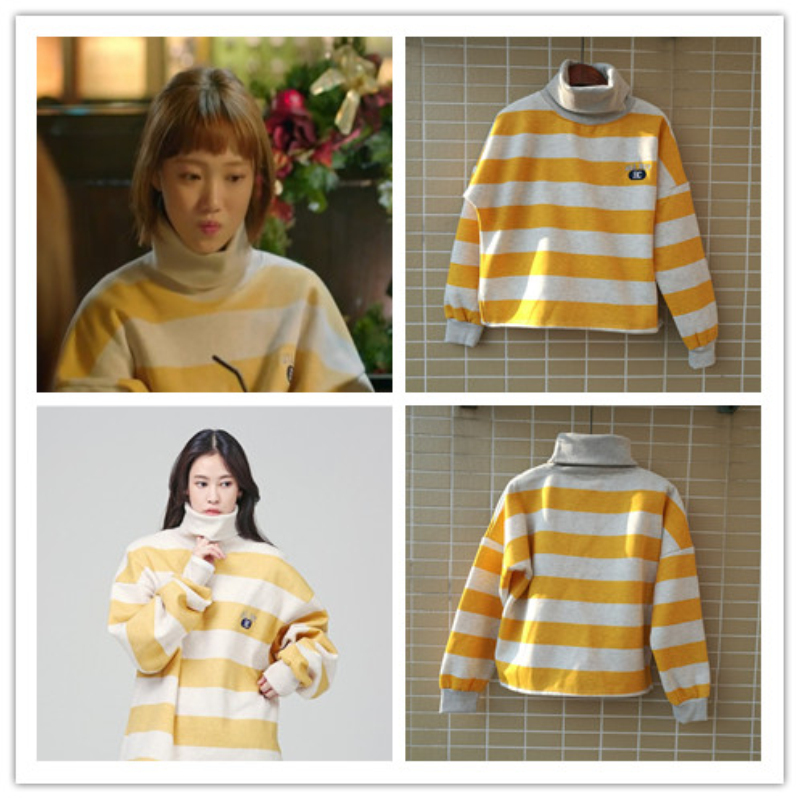 Mainlead Korean Weightlifting Fairy Kim Bok-Joo Oversized Women Turtleneck Hoodie