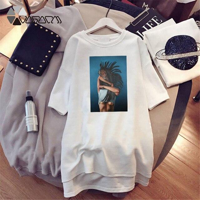 Plus Size Women Summer Dresses Elegant Beauty Print Short Sleeve T-shirts Casual Loose Mini Woman Dress Tee Vestido Mujer Robes 3