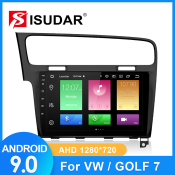 ISUDAR Car Radio For VW/Volkswagen/Golf 7 2 din Android 9 Autoradio Multimedia GPS DVR Camera RAM 2GB ROM 32GB USB Radio IPS FM