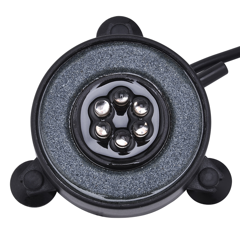 Multi Color Aquarium Air Stone Disk Waterproof Air Bubble Light Color Auto Changing Round LED Light Fish Tank Bubbler Lamp D35 in Lightings from Home Garden