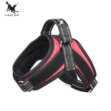 TAILUP K9 Reflective Light Velcro No Pull Dog Harness Vest Small Soft Thicken Oxford Puppy Harnesses for Cats Dogs