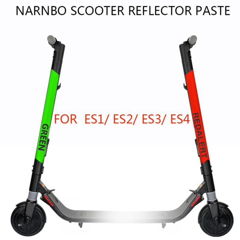 1PCS Reflective Styling Stickers For Ninebot Es1/Es2/Es4 Electric Scooter Skateboard Parts Accessories New