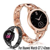 Voor Huawei Horloge Gt 2 / Honor Magic Horloge 2 42Mm Rvs Band Vervanging 20Mm Horloge Band metalen Aolly Armband