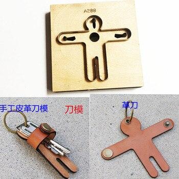 Japonia ostrze ze stali drewniany wykrojnik ludzki kształt brelok uścisk projekt skórzany dziurkacz ręczny narzędzie ręczne Cut forma do wycinania akcesoria do szycia