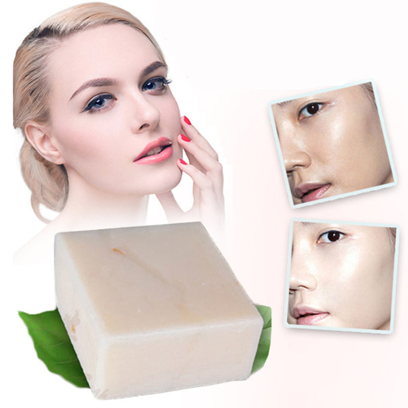 Wash Face Handmade 60g Rice Milk Soap Whitening Moisturizing Brighten Skin Wash Face Body Cleaning Soap Foam Lighten Scars Spots