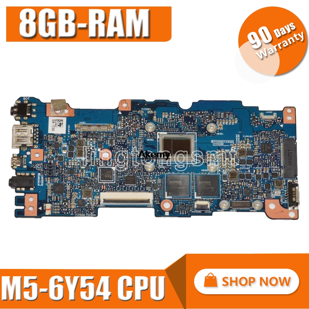 New Akemy UX305CA Mainboard REV 2.0 For ASUS UX305C UX305CA U305C Zenbook Motherboard 100% Tested OK M5-6Y54 CPU 8GB-RAM