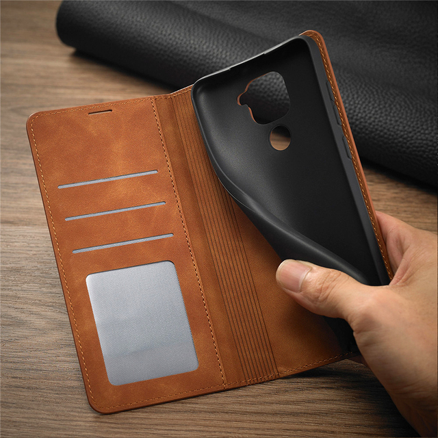 Leather Flip Case For Xiaomi Poco X3 M3 F3 11i 10T Lite Redmi Note 10 9 S 9A 9C 9T  8 7 Pro Max Wallet Cards Stand Phone Cover 4