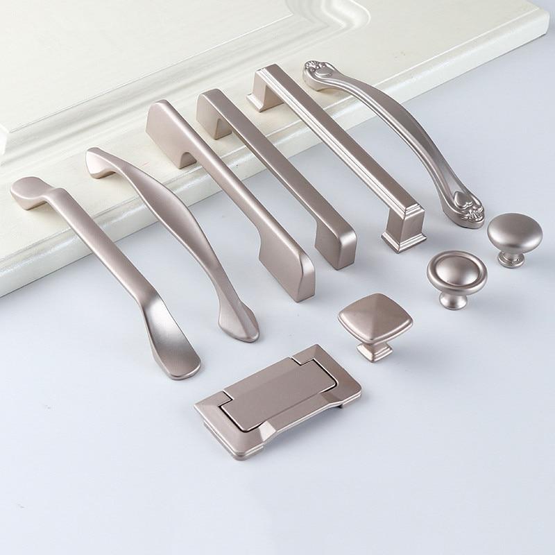 Aluminum Alloy Pearl Nickel Cabinet Handles Drawer Knobs Kitchen Cupboard Door Pulls Furniture Handle Cabinet Hardware