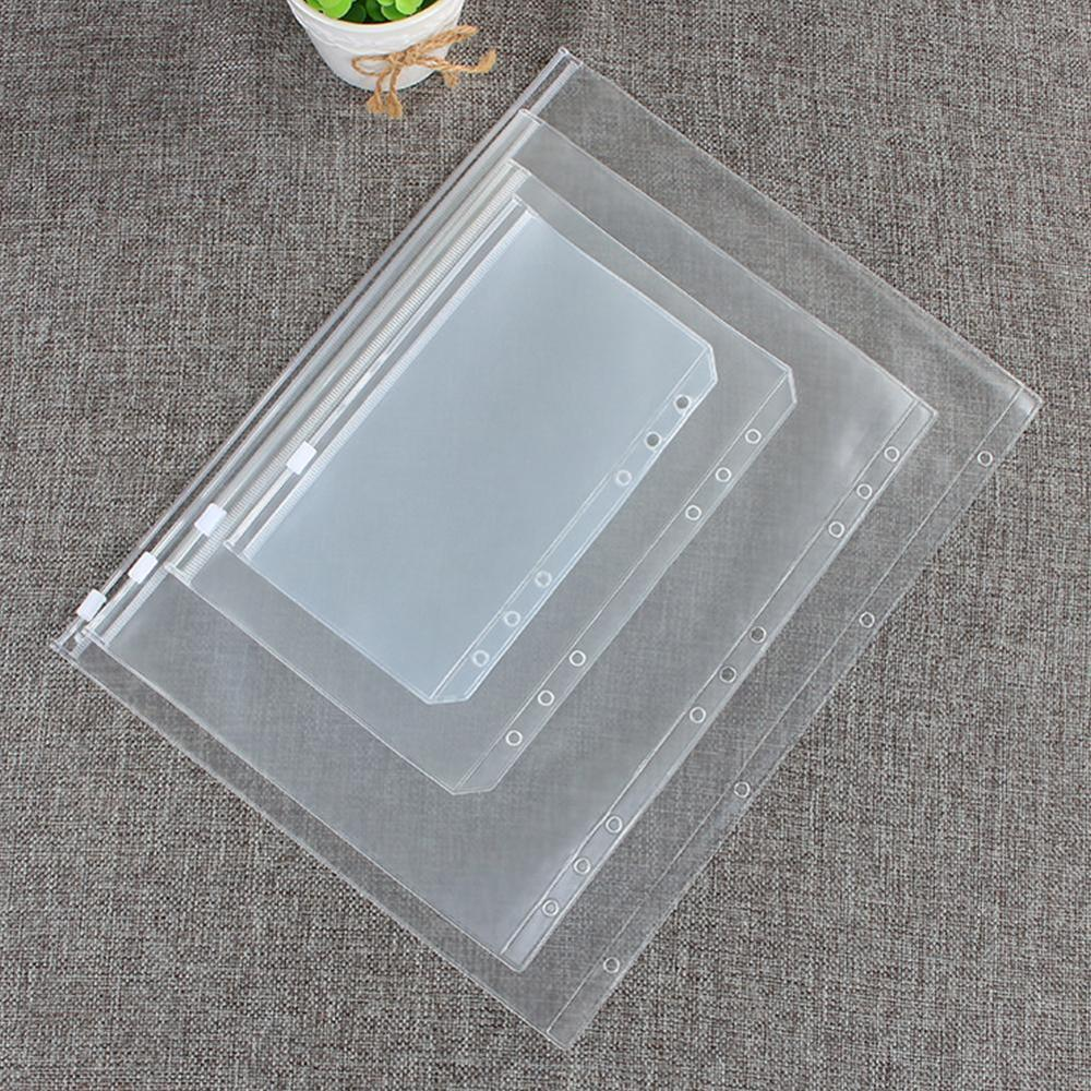 A5/A6/A7/B5/A4 Transparent PVC Storage Card Bag For Traveler Notebook Diary Planner Zipper Bag Filing Products 1pcs