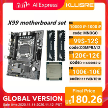 Kllisre X99 материнская плата набор Xeon E5 2640 V3 LGA2011 3 процессор 2шт X 8 ГБ = 16 Гб 2666 МГц DDR4 память