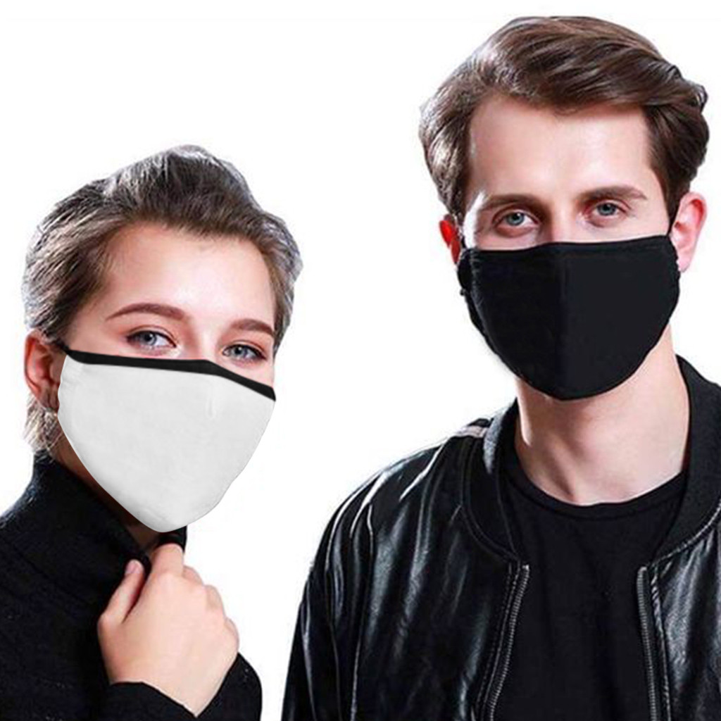 Kpop Cotton Black Mask Mouth Face Mask Anti PM2.5 Dust Mask With Activated Carbon Filter Korean Style Mask Fabric Face Mask