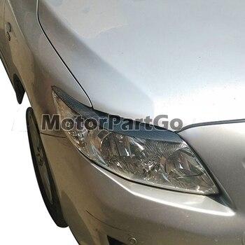 Real Crabon Fiber Head light Eyelid Eyebrow Cover Trim 1pair for Toyota Corolla 2006-2013 T226 1