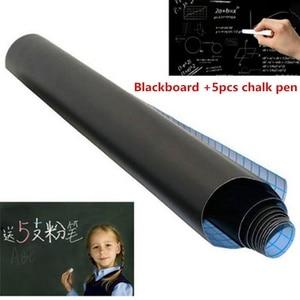 Vinyl Chalkboard Wall Stickers Removable Blackboard Decals Great Gift for Kids 45CMx100CM Learning Black Board Stickers