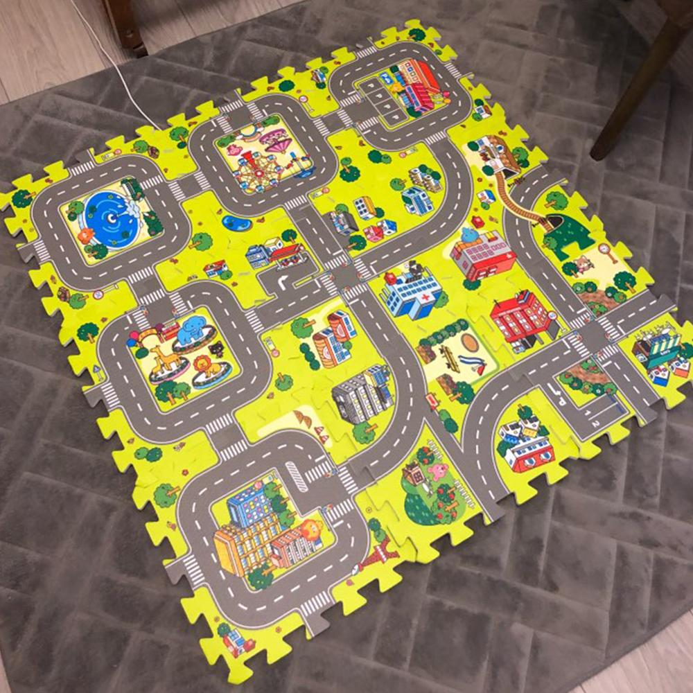 Each 30X30cm 9/18pcs Alot Playmat Baby EVA Foam Play Puzzle Mat For Kids Interlocking Exercise Tiles Floor Carpet Rug