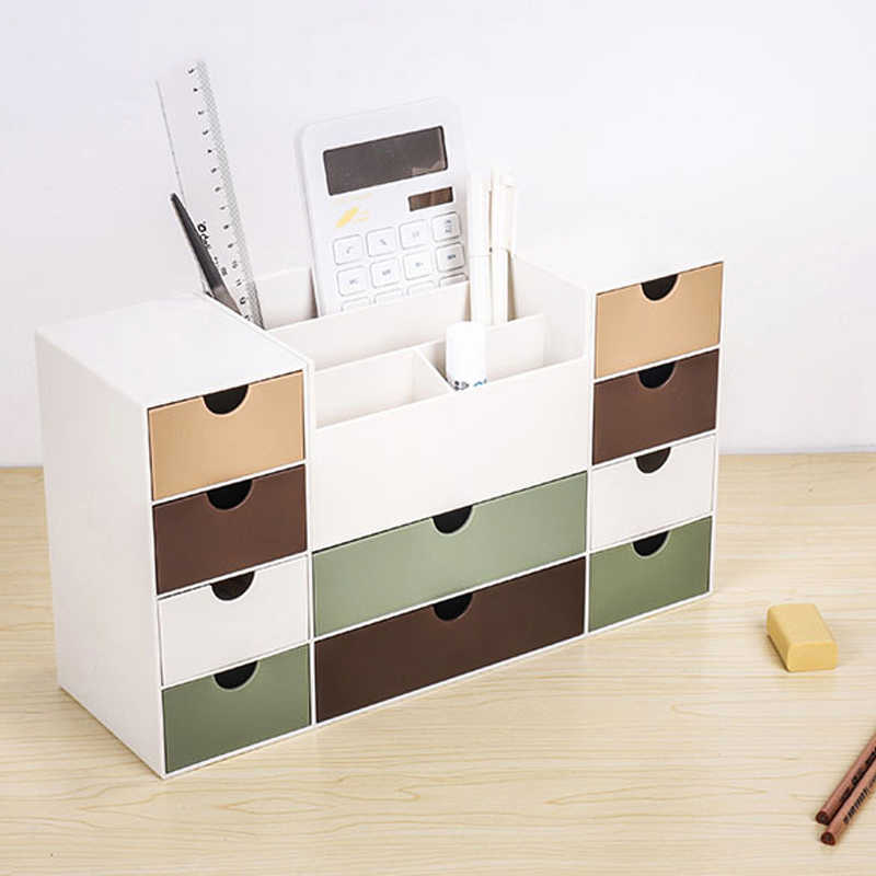 New Multi Grid Plastic Storage Box With Drawers Acrylic Jewelry Cosmetic Organizer Drawer Makeup Case Storage Insert Holder Box Aliexpress