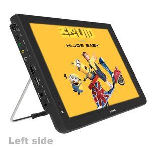 Image 2 - JUNKE HD แบบพกพา 12 นิ้ว Digital และ Analog LED โทรทัศน์สนับสนุน TF Card USB Audio Video Player โทรทัศน์ DVB T2