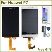 Preto branco lcd tela de toque para huawei p7 lcd display toque digitador da tela assembléia para huawei ascend p7 P7-L00 P7-L05 P7-L10