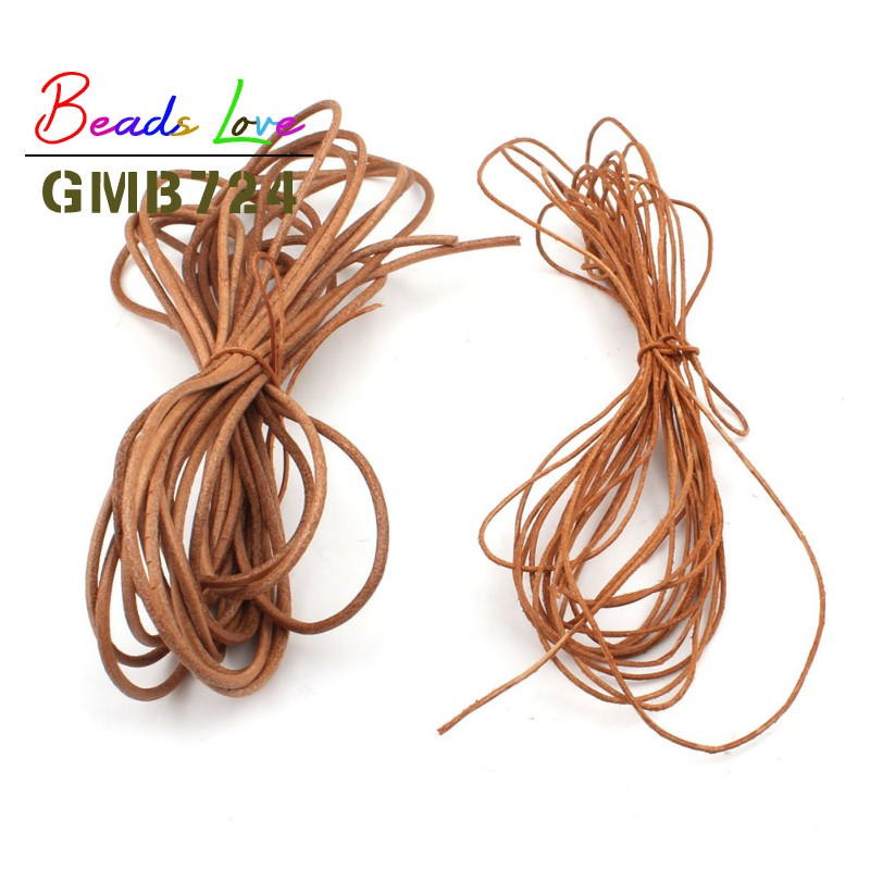 5M Round  Genuine Leather craft Rope Cord for Bracelet Necklace Strap DIY 2//3mm