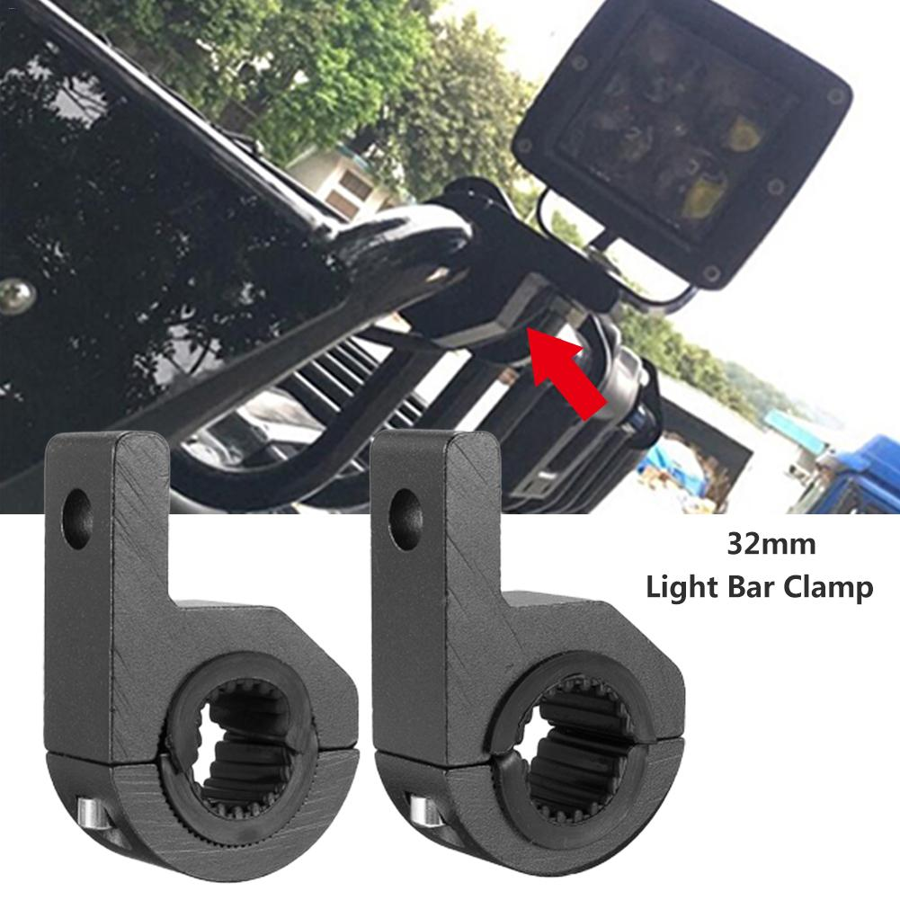 2PCS 30-32MM Motorcycle LED Work Light Installation Bracket With 1 Set Of Rubber Pads Motorcycle Modification Bracket Alloy