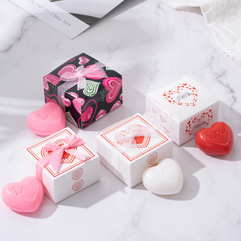 Handmade Love Heart-shaped Design Bath Soap Wedding Party Love Gift Soapy Favor Valentine Gift Solid Perfumes Antiperspirants 1